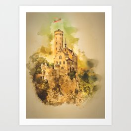 Liechenstein Castle Art Print