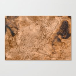 Acrylic Coffee Stained Paper Canvas Print