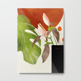 minimal floral autumn Metal Print