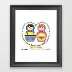 I {❤} Matryoshka Framed Art Print