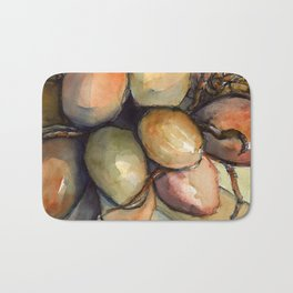 Tropical Palm Tree Coconuts Bath Mat
