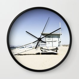 Hermosa Beach Tower 5 Wall Clock