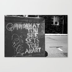 What You See Canvas Print