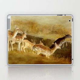 Fallow Deer Running Laptop & iPad Skin