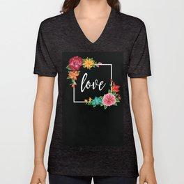 Floral Love I. Unisex V-Neck
