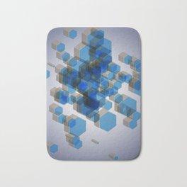 3D Hexagon Background Bath Mat