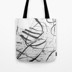 wild black strokes Tote Bag