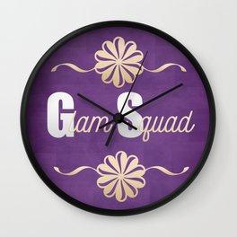 Glam Squad Wall Clock