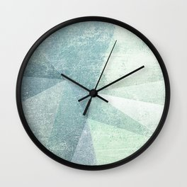 Frozen Geometry - Teal & Turquoise Wall Clock