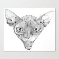 sphynx Canvas Prints featuring Sphynx by BlackNYX