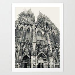 Cathedral Crop \\ Cologne, Germany Art Print