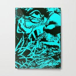 F*ckin' Abe Teal Metal Print