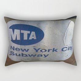 NYC MTA Trash Can Rectangular Pillow