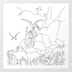 Jesus, Etc. III (Alt) Art Print