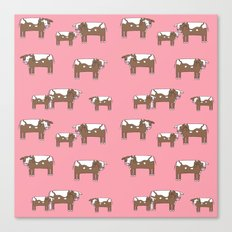 Cow farm minimal pattern animals nursery kids cattle design gifts Canvas Print