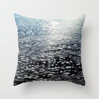 ombre Throw Pillows featuring Ombre by Amy Muir