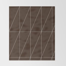 Brown Triangles by Friztin Throw Blanket