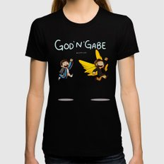 GOD'N'GABE Womens Fitted Tee SMALL Black