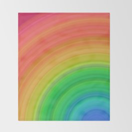 Bright Rainbow | Abstract gradient pattern Throw Blanket