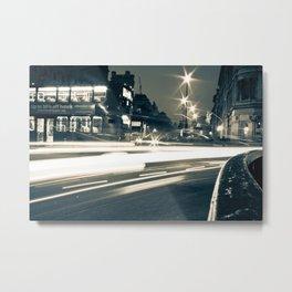London Night Streets Metal Print