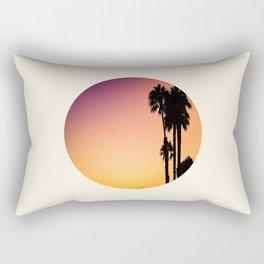 Palm Tree Silhouette & Orange Purple Sunset Rectangular Pillow