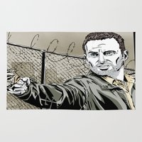 grimes Area & Throw Rugs featuring Walking Dead - Rick Grimes  by Averagejoeart