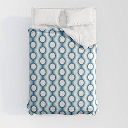 Retro-Delight - Conjoined Circles - Blue Comforters