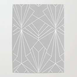 Art Deco on Grey - Large Scale Poster