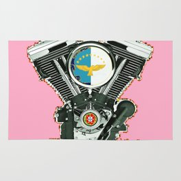 Portuguese Biker Culture in Hot Pink. Rug