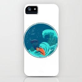 Kite Surfing Ocean Waves iPhone Case
