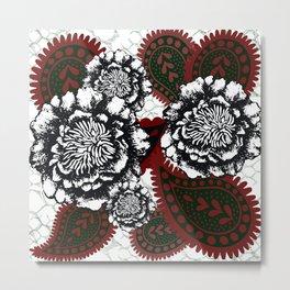 Flower paisley. Metal Print