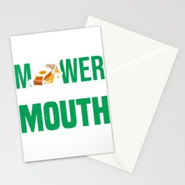 Lawn Mower Mowing Grass Gardener Gardening Hobby  Stationery Cards