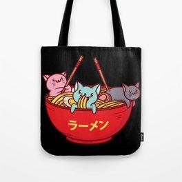 Kawaii Anime Cat Shirt - Funny Adorable Japanese Illustration Tote Bag