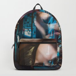 China America double exposure Backpack