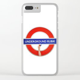 Underground Rubik Clear iPhone Case