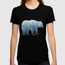 Misty Forest Bear - Turquoise T-shirt