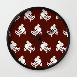 NURSERY ANIMAL MONKEY PRINT Wall Clock