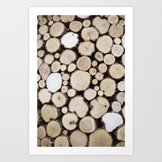 Woodpile Art Print