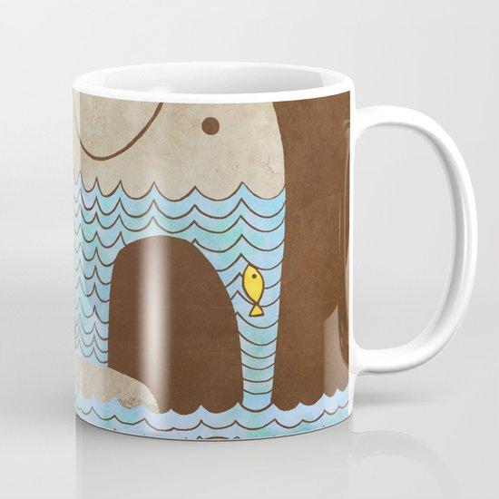 Thirsty Elephant - colour option Mug
