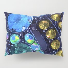 Sky Blue & Rainbow Colored Jewels Design Pillow Sham