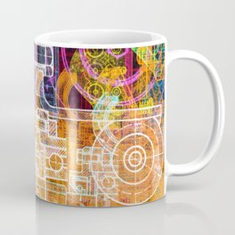 Grunge tech print Coffee Mug