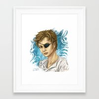 pen Framed Art Prints featuring Pen by laya rose