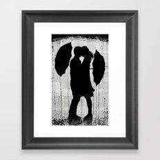 umbrellas and love Framed Art Print