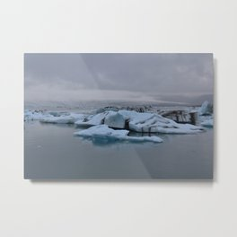 Beautiful glacial lake Jökulsárlón Metal Print