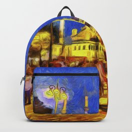Istanbul At Night Van Gogh Backpack