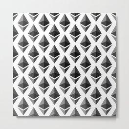Ethereum - Crypto Fashion Art (Large) Metal Print