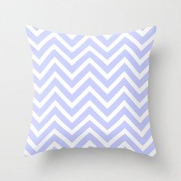 Periwinkle Blue Chevron Stripes Throw Pillow