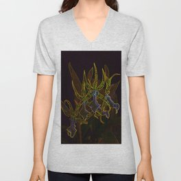 Star Orchids Unisex V-Neck
