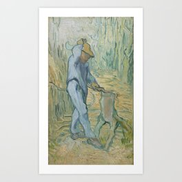 The Woodcutter (after Millet) Art Print