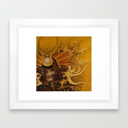 And He Came as a Warrior Framed Art Print